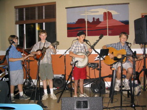 One of the band's first performances, for Two Acre Wood in Sebastopol